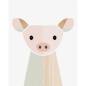 Little Design Haus Pig Canvas Art