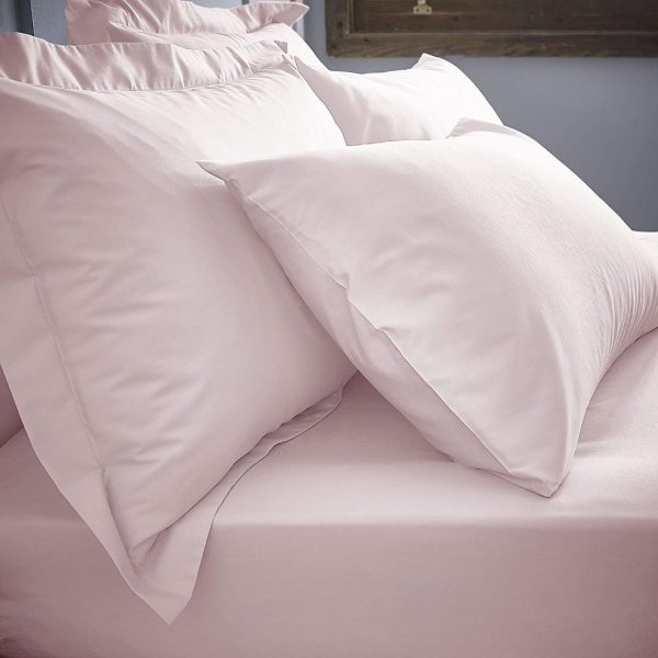 Bianca Blush Deep Fitted Sheets & Matching Pillowcases