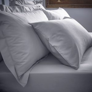 Bianca Grey Deep Fitted Sheets & Matching Pillowcases