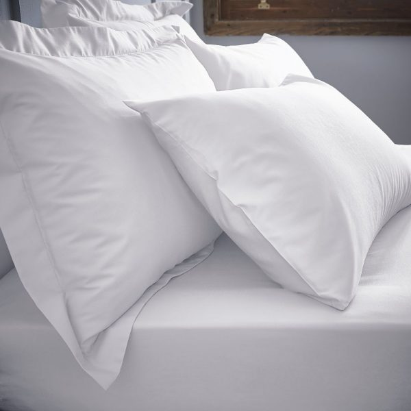 Bianca White Deep Fitted Sheets & Matching Pillowcases