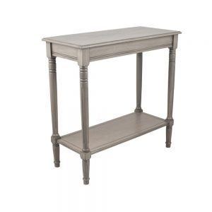 Heritage Taupe Pine Wood Rectangle Console