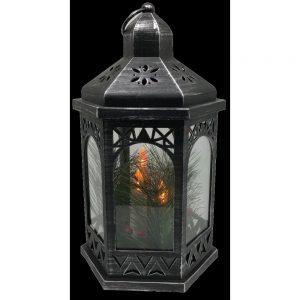 Black Lantern with LED Candles