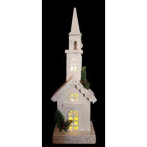 White Wooden Church LED