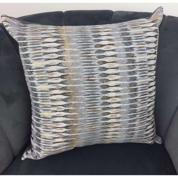 Cushion Cover Grey with Gold