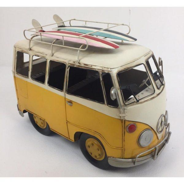 VW Vintage Camper Van in Yellow