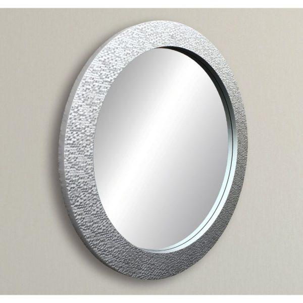 Silver Round Mirror 92cm Diameter