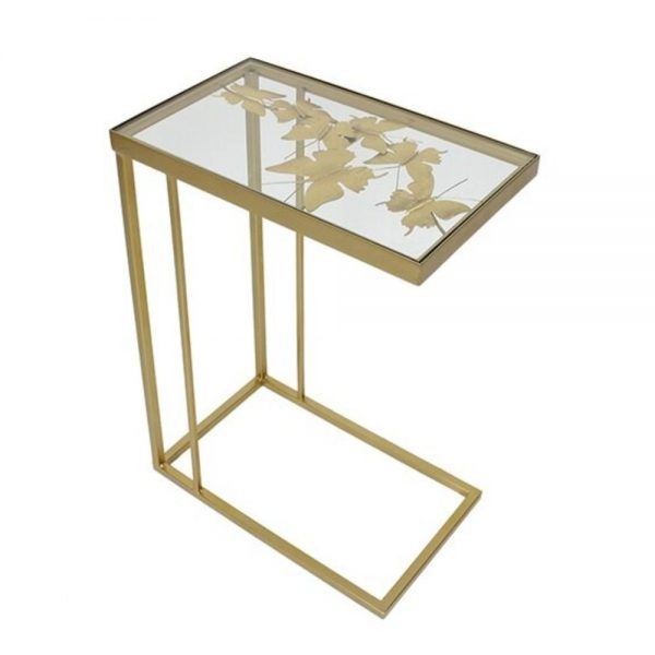 Butterfly Rectangle Side Table Champagne