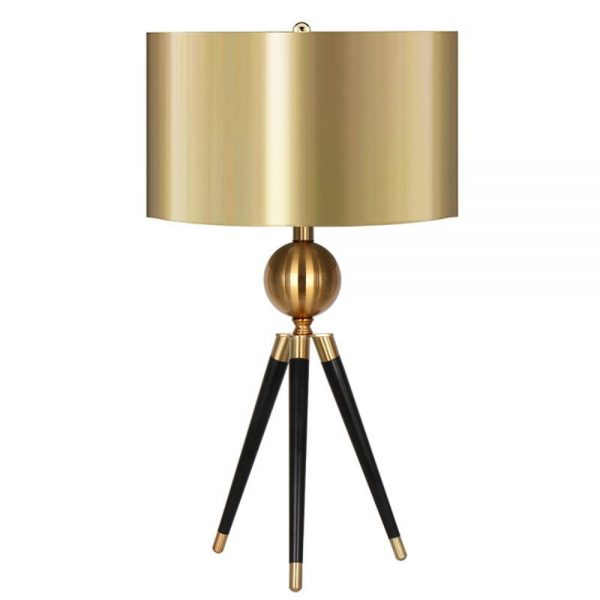 Gilgen Tripod Table Lamp 38x80cm with Gold Shade