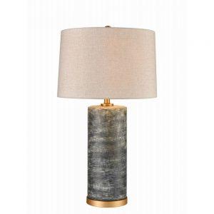 Jerez Table Lamp Ceramic Matt Blue H29.5in