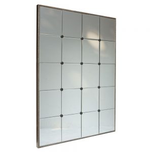 Button Paneled Mirror 76x102cm