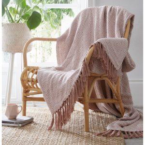 Cotton Throw Ascot Pink 130 x 170cm
