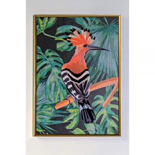 Orange Bird Framed Canvas