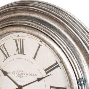Dublin Clockworks Wall Clock 66cm Pewter