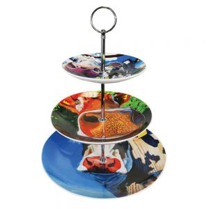 Eoin O'Connor Cows 3 Tier Cake Stand