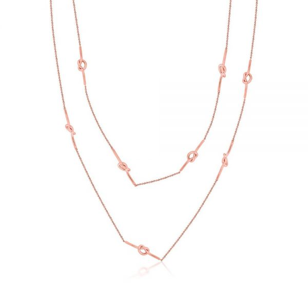 Romi Rose Gold Knot Necklace