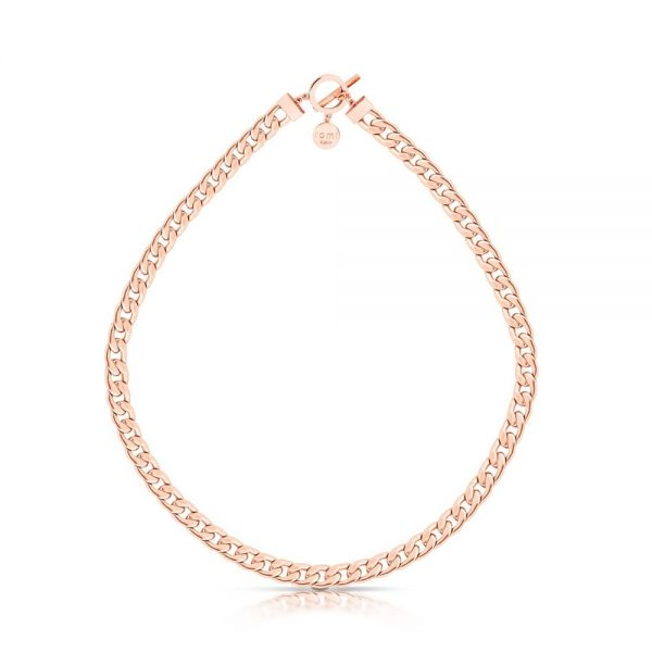 Romi Rose Gold Curb Chain Necklace