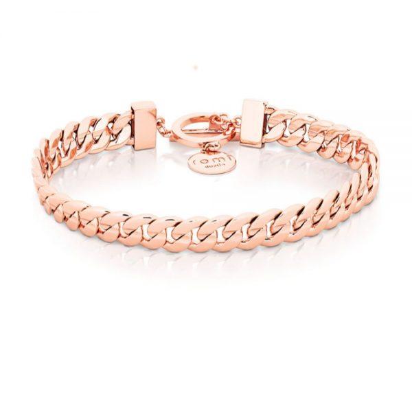 Romi Rose Gold Curb Chain Bracelet