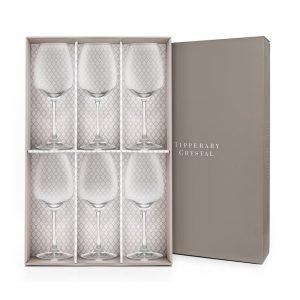 Tipperary Crystal Prestige Set of 6 Wine Glasses