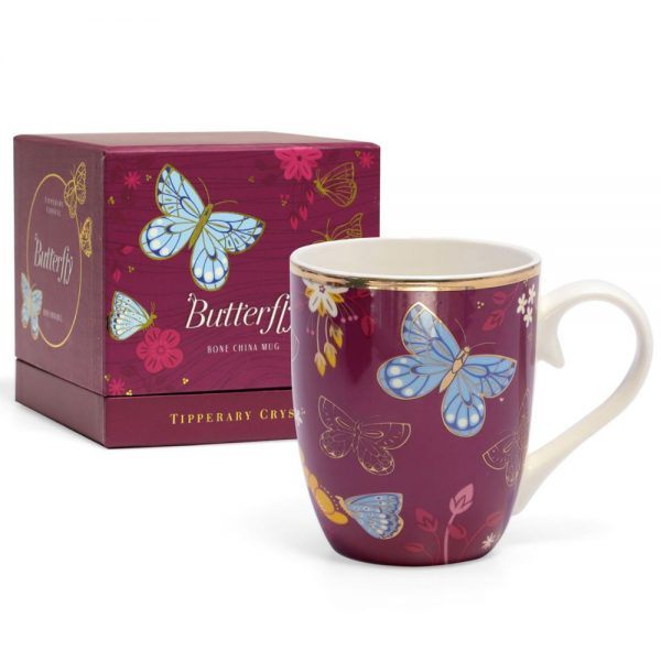 Single Butterfly Mug The Common Blue