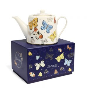 Butterfly Tea Pot Presented in Gift Box