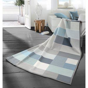 Blocking Blue Blanket Cotton