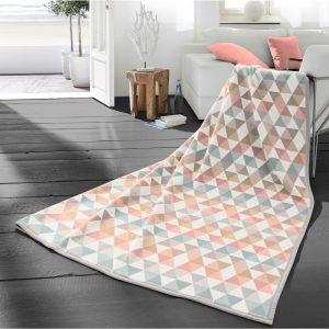 Zig Zag Pastel Blanket Cotton