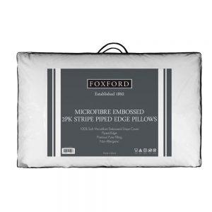 Foxford Twin Pack Mircofibre Deep Wall Pillows
