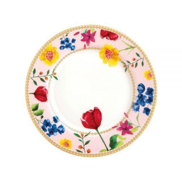 MW Contessa Rimmed Plate Rose 19.5cm