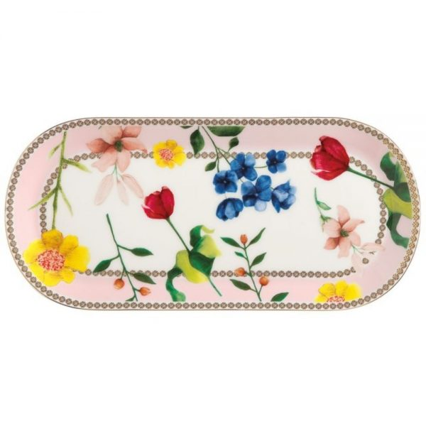 Teas & Cs Contessa Porcelain Serving Platter Rose