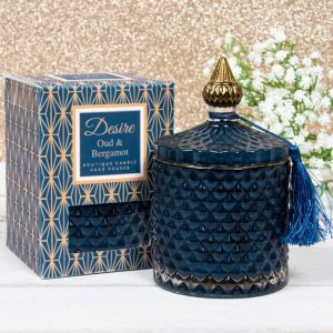 Oud and Bergamot Soy Candle Jar Medium