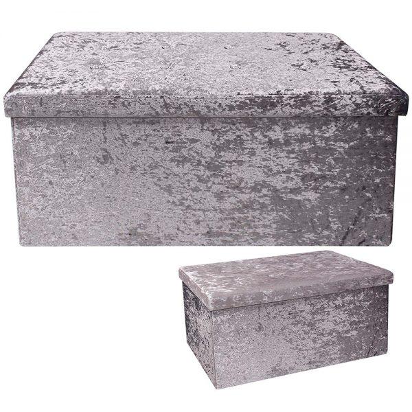 Dark Grey Velvet Folding Box