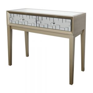 Vegus 2 Drawer Console Champagne