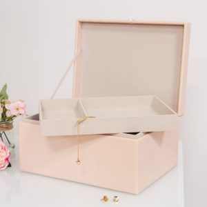 Estella Pink Jewellery Box with Rose Gold Heart