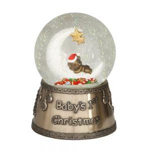 Genesis Moon & Teddy Globe 1st Christmas