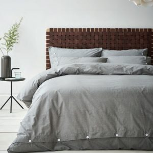Terence Conran Grey Cotton Duvet Set