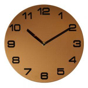 Round Rose Gold Metal Wall Clock Arabic Dial D32cm