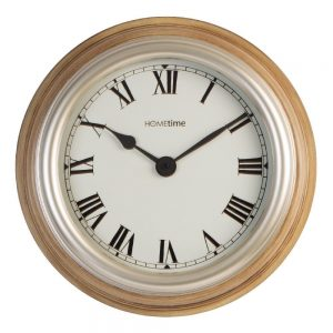 Hometime Deep Case Wall Clock Blonde Wood