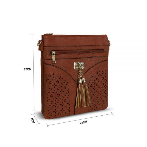 Gessy Cross Body Tan Handbag