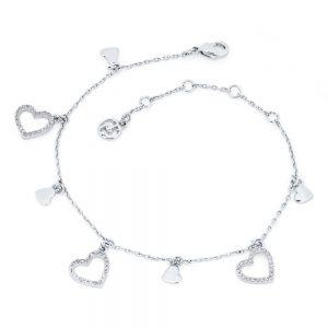 Heart Icon Bracelet Silver