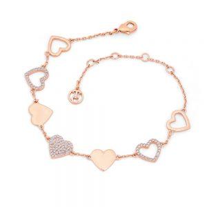 Heart Bracelet Heart Icons Rose Gold