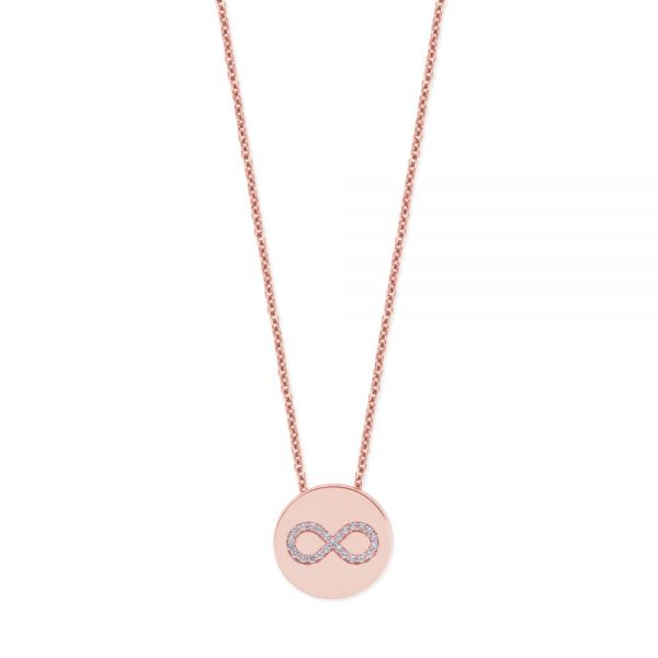 Infinity Coin Pendant Rose Gold