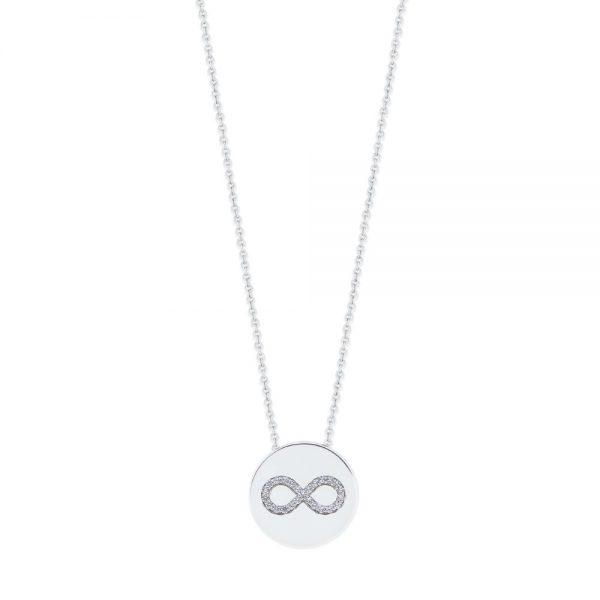 Infinity Coin Pendant Silver