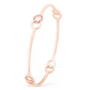 Infinity Bangle Pink Cz Rose Gold