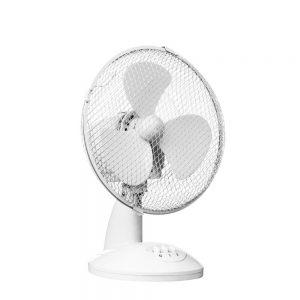 White Desk Fan 23cm Diameter