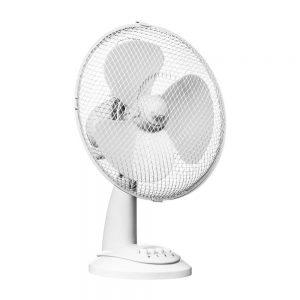 White 3 Speed Desk Fan D30.5cm