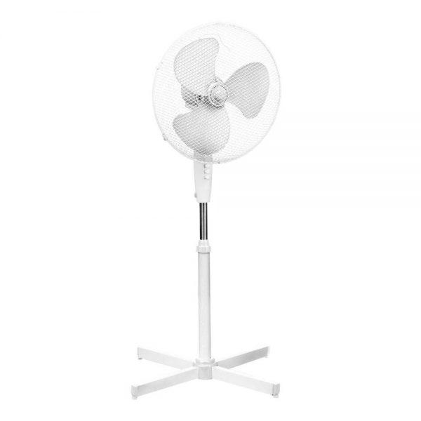 White Floor Standing Fan 40.5cm Diameter