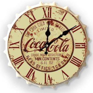 Coca Cola Light 30cm Clock Bottle Top