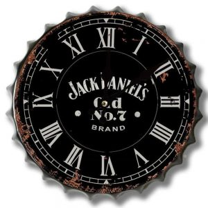 Jack Daniels Old No 7 30cm Clock Bottle Top