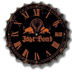 Jager Bomb 30cm Clock Bottle Top