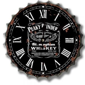 Peaky Blinders Whiskey 30cm Clock Bottle Top